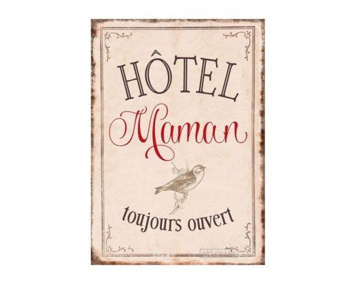 """Carte Double """"Hôtel Maman : Toujours ouvert"""""""