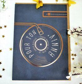 Carte Double Joyeux Anniversaire pour mélomane