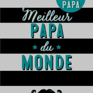 """Carte + badge magnétique """"Meilleur papa du monde"""""""