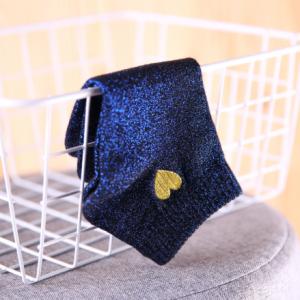 chaussette irisée bleue