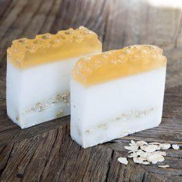 Savon Exfoliant doux miel, avoine & karité