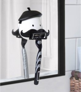 Porte-rasoir ventouse : Mr Moustache