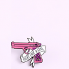Pin's pistolet rose