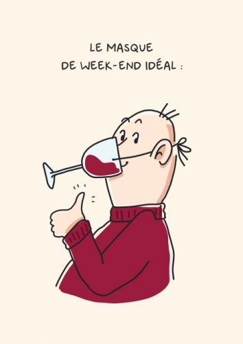 """Carte """"Le masque de week-end idéal"""""""