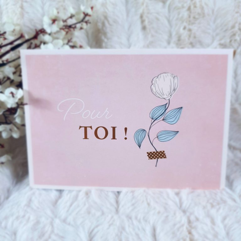 """Carte Double Elégante """"Pour toi"""""""