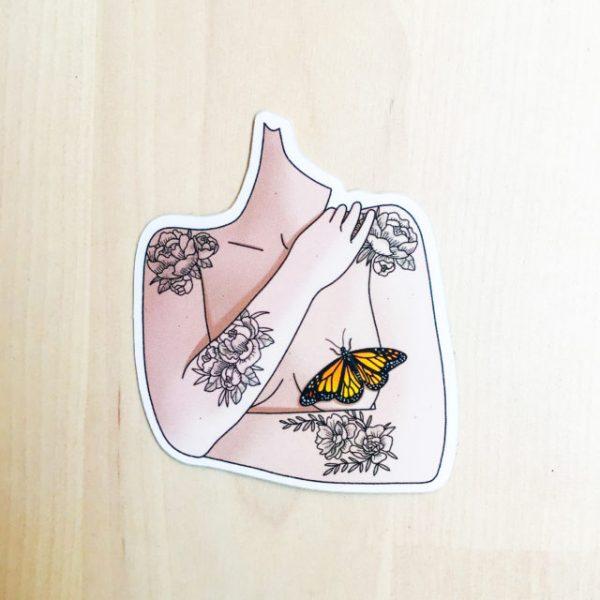 Papillon-sticker