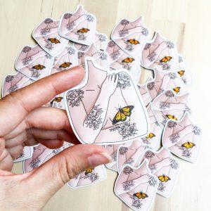 Papillon-stickers